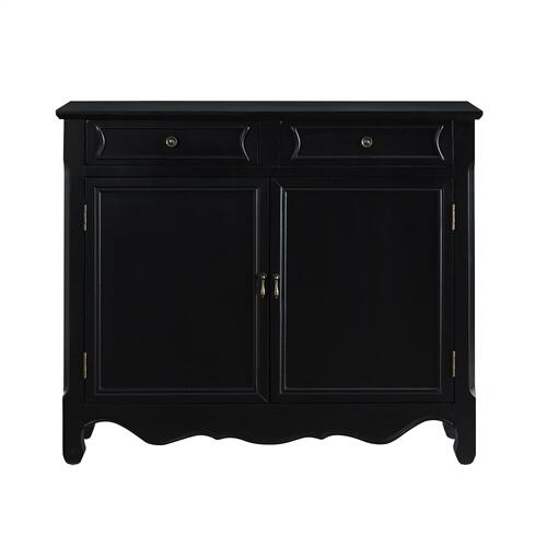 2-drawer and 2-door With Shelves Inside Console, Black