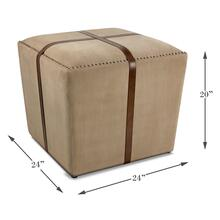 See Details - Strap Canvas & Leather Stool
