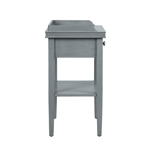 1-drawer and 1 Bottom Shelf Accent Table, Grey