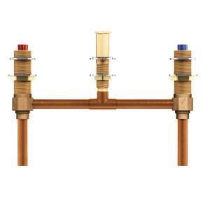 "two handle roman tub valve 10"" center 1/2"" cc connection Product Image"