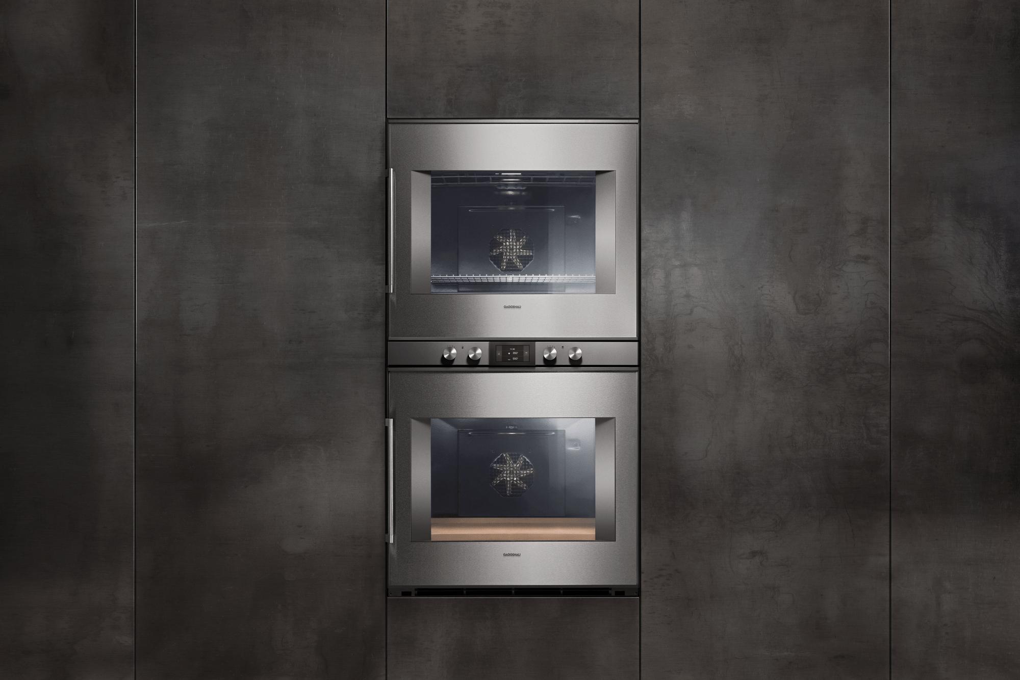 400 Series Double Oven 30'' Door Hinge: Right, Door Hinge: Right, Stainless Steel Behind Glass Photo #4