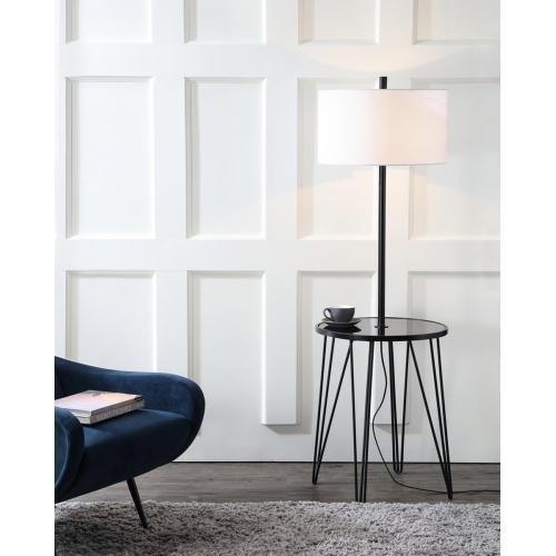 Ciro 58-inch H Floor Lamp Side Table - Black
