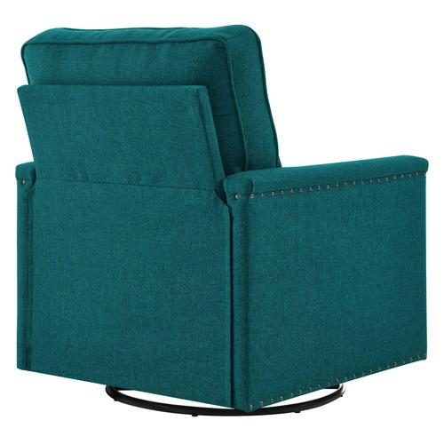 Modway - Ashton Upholstered Fabric Swivel Chair in Teal