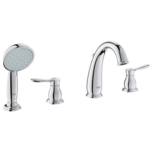 Parkfield 4-hole Single-handle Deck Mount Roman Tub Faucet With 2.0 Gpm Hand Shower