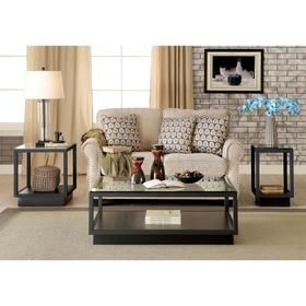 Chairside Table - Textured Black Finish