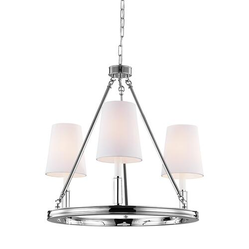 Lismore Small Chandelier Polished Nickel
