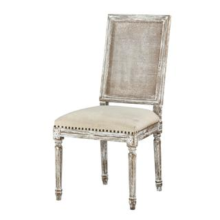 See Details - Square Maxwell Side Chair (cottage White W/ Putty)
