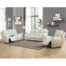 Laurel Ivory 3-Piece Dual-Power Leather Motion Set (Sofa, Loveseat & Chair)