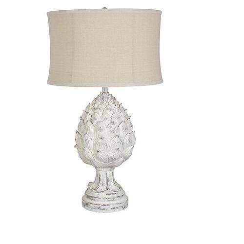 Large Artichoke Finial Table Lamp