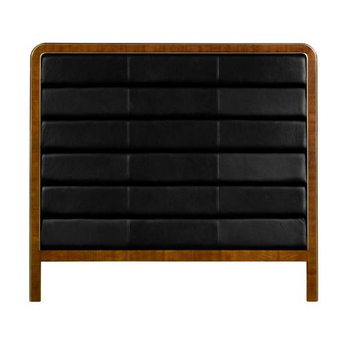 US Queen headboard upholstered in black leather