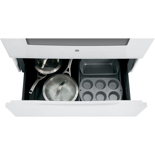 "GE Appliances Canada - GE 30"" Electric Freestanding Range with Storage Drawer White JCB630DKWW"
