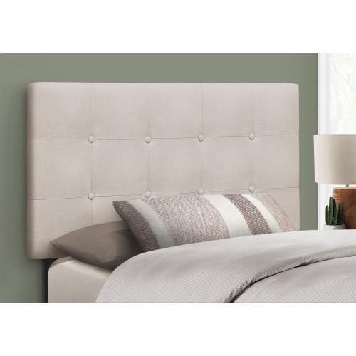 Gallery - BED - TWIN SIZE / BEIGE LINEN HEADBOARD ONLY