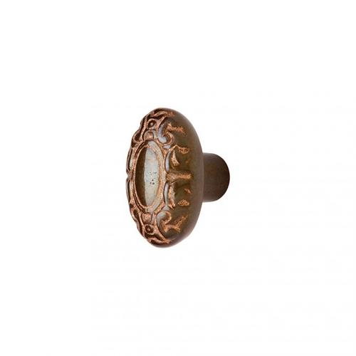 Acanthus Knob - CK232 White Bronze Brushed