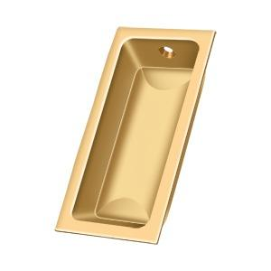 "Flush Pull, Large, 3-5/8"" x 1-3/4"" x 1/2"" - PVD Polished Brass"
