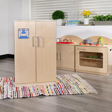 Children's Wooden Kitchen Refrigerator for Commercial or Home Use - Safe, Kid Friendly Design