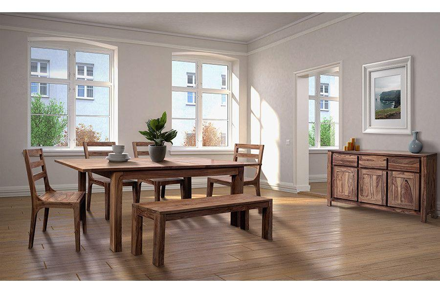 """Porter International DesignsUrban 72"""" Dining Table Set With 24"""" Butterfly Extension, Hc1127s01"""