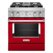 KitchenAid® 30'' Smart Commercial-Style Dual Fuel Range with 4 Burners - Panel Ready