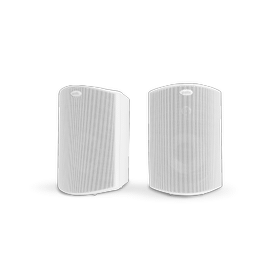 """ALL WEATHER OUTDOOR LOUDSPEAKERS WITH 5"""" DRIVERS AND 3/4"""" TWEETERS (PAIR) in White"""