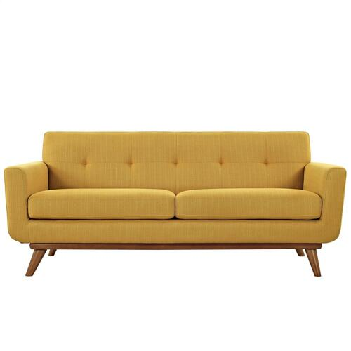 Modway - Engage Upholstered Fabric Loveseat in Citrus