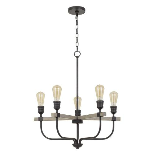 Cal Lighting & Accessories - 60W X 5 Sion Metal Chandelier