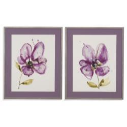 2 Pc Violet Petals