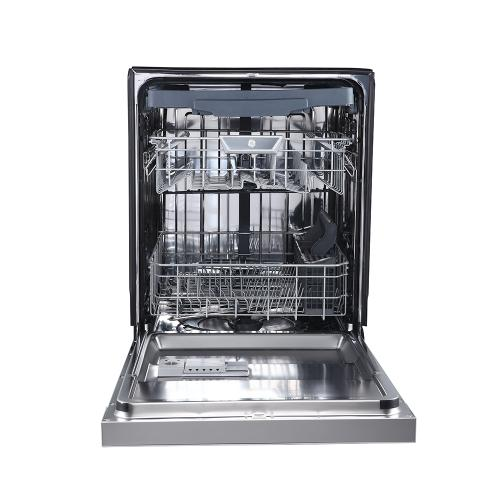"""GE Profile 24"""" Built-In Front Control Dishwasher with Stainless Steel Tall Tub Stainless Steel - PBF665SSPFS"""