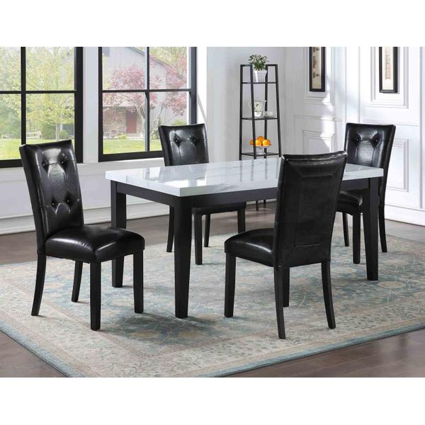 See Details - Sterling 5 Piece Faux-Marble Top Dining(Table & 4 Side Chairs)