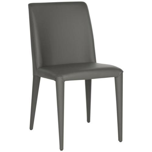 Garretson 18'' Leather Side Chair - Grey