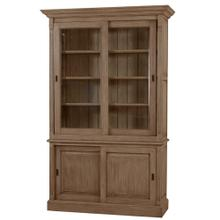 Hudson 88'' Bookcase w/ 2 Sliding Doors