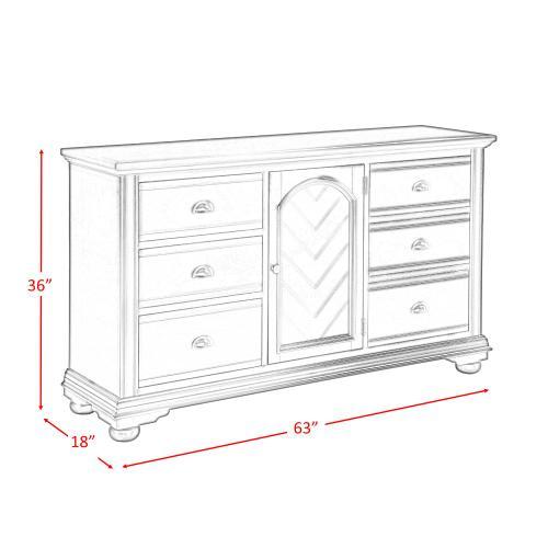 Brookpine White Dresser White