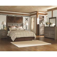 View Product - Queen Panel Headboard With Mirrored Dresser and Chest
