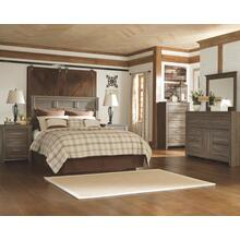 Queen Panel Headboard With Mirrored Dresser and Chest