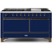 "60"" Inch Blue Liquid Propane Freestanding Range"