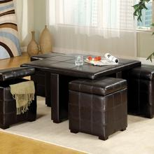 See Details - Ceres Cocktail Table W/ Ottomans
