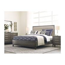 View Product - Ross Queen Upholstered Panel Bed - Complete