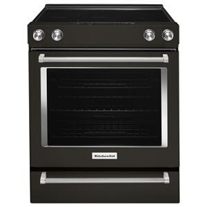 Kitchenaid  30-Inch 5-Element Electric Slide-In Convection Range - Black Stainless Steel with PrintShield™ Finish