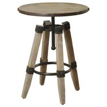 Hanley  20in X 20in X 26in Industrial Distressed Wooden and Metal Accent Table with 4 Wood and Meta