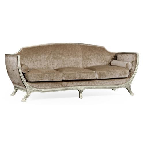 Empire style sofa (Silver leaf/Velvet Calico)