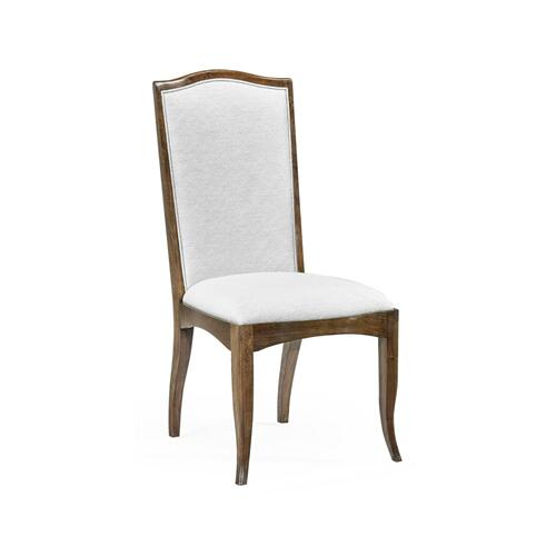 Berkley Walnut Dining Side Chair, Upholstered in COM