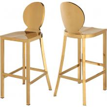 """See Details - Maddox Gold Stainless Steel Bar Stool - 15"""" W x 21"""" D x 42"""" H"""