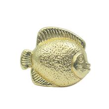 See Details - Solid brass fish-shaped knob.