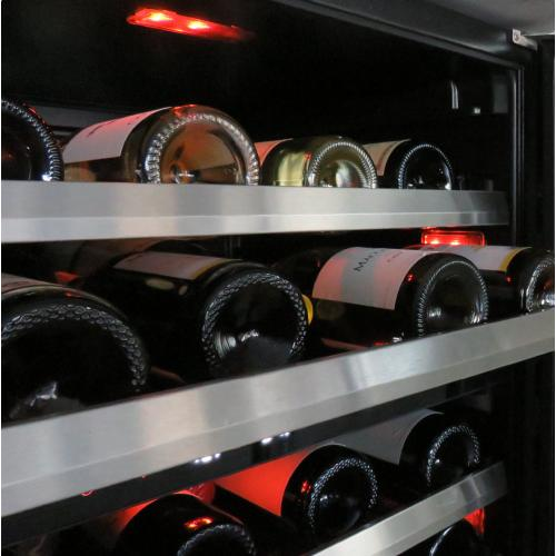 24in Wine Cellar 2 Zone SS Glass RH