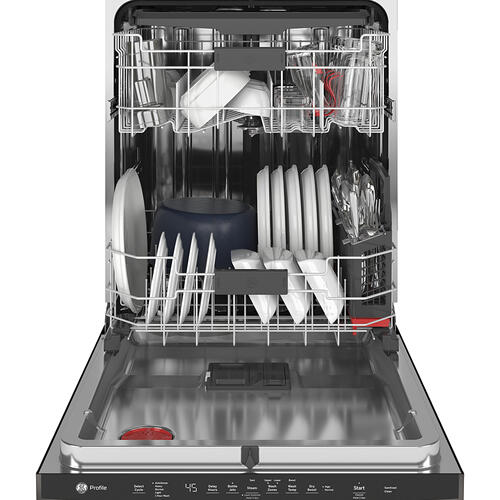 GE Profile™ Stainless Steel Interior Dishwasher with Hidden Controls Black Stainless Steel - PDT715SBNTS