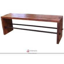 View Product - Breakfast & Bedroom Bench All wood, w/metal bar accents