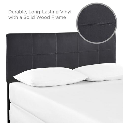 Modway - Oliver Queen Upholstered Vinyl Headboard in Black