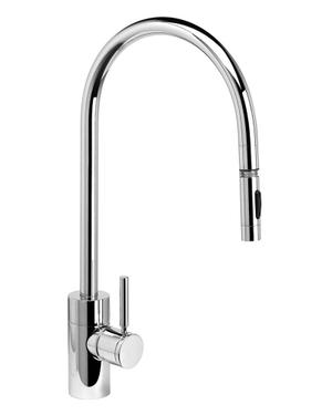 Contemporary Extended Reach PLP Pulldown Faucet - 5300 - Waterstone Luxury Kitchen Faucets Product Image