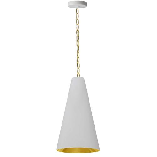 Product Image - 1lt Anaya Small Pendant, Agb W/ Wh/gld Shade