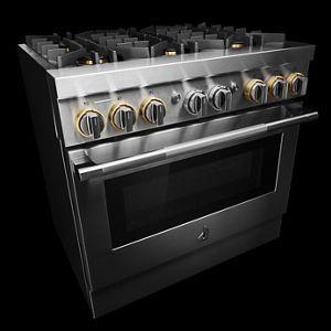 "JennAir - RISE™ 36"" Dual-Fuel Professional Range"