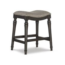 Saddle Seat Counter Stool, Grey