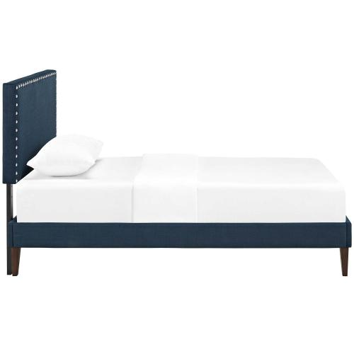 Modway - Macie Twin Fabric Platform Bed with Squared Tapered Legs in Azure